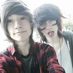 "people put this under their ""emo"" board but they dont realize its kyle and johnnie❤❤❤"