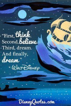 disney quotes walt-disney-quotes-think-believe-dre - quotes Disney Dream Quotes, Walt Disney Quotes, Disney Stitch, Disney Love, Disney Magic, Disney And Dreamworks, Disney Pixar, Glitter Unicorn, Positiv Quotes