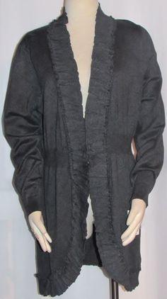 NEW Womens Ladies Plus STYLE & CO Charcoal Gray Open Cardigan Tunic Sweater 0X  #StyleCo #OpenCardiganTunicSweaterTop #Versatile