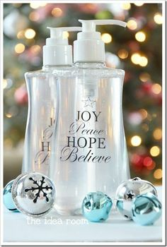 diy christmas gifts personalized soap bottles