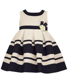 Bonnie Baby Baby Girls' Stripe & Daisy Party Dress