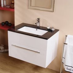 Modena Eden 75 Furniture Pack | Contemporary style toilet and 75cm vanity unit creating a modern classic bathroom. The unit is complete with an integrated basin.