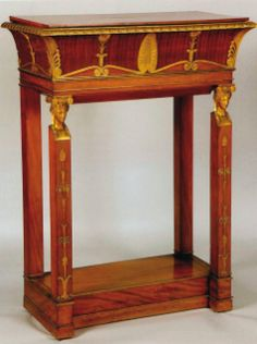 A PAIR OF GILTBRONZE MOUNTED MAHOGANY JARDINIÈRES STAMPED JACOB D / R.MESLEE, EMPIRE