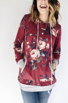 Floral Hoodie | ROOLEE