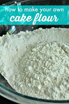 try this easy how to make cake flour recipe Homemade Dry Mixes, Homemade Spices, Homemade Seasonings, Homemade Cakes, Homemade Products, Baking Secrets, Baking Tips, Baking Hacks, Cake Flour Recipe