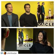 """#HenryCavill doing interviews in #London right now #FocusedSolo  - """"@shiritkedar Just the boys and I. Interviewing Henry Cavill and Armie Hammer for the new Guy Ritchie's 'The Man from u.n.c.l.e'. #themanfromUNCLE #henrycavill #armiehammer #manofsteel #superman #guyritchie."""" -- LATEST on the blog (link in bio.) #ManFromUNCLE"""