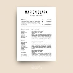 Medical Resume  Nurse Cv By ProGraphicDesign On Creativemarket