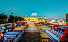Mama Shelter Hollywood Rooftop Deck - Los Angeles | A Hollywood Rooftop with DJs, Shawarma and Views for Days