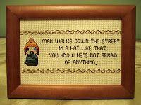 Cthulhu Crochet and Cousins: Firefly cross stitch
