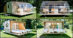 """""""The Awning"""" – Mobile Living – House Hunting Living On The Road, Tiny House Living, Mobile Living, Mobile Home, Folding House, Shed Office, Travel Camper, Luxury Tents, Remodeled Campers"""