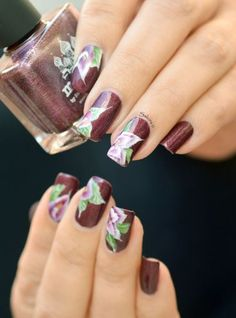 NAIL ART ONE STROKE MOSCOW