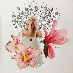 flower collage by kate rabbit - No. 08/100