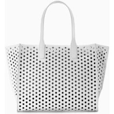 Zara Large Perforated Shopper Perfect summer office bag - slightly used with inside lining worn just a bit inside. Zara Bags Totes