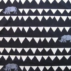 Fabric Store - Echino Decoro - Rhino - ML251420 - Black