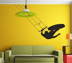 KiteSurf wall art decal sticker for wall home decoration.