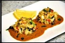 Crab Cakes with Cajun Lobster Sauce Del Frisco's Double Eagle Steakhouse