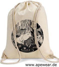 Turnbeutel aus Baumwolle // gym bag Scandinavian Design by Hamsibamsi via DaWanda.com