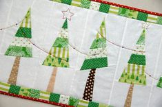 Festive Christmas Tree Table Runner PDF by claireturpindesign, $8.00