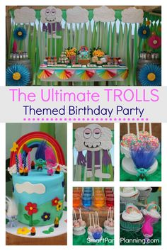 Trolls themed birthday party that kids will absolutely love. Using DIY easy party decorations and food this is the kind of party that screams FUN. Using a rainbow design, this party will be loved by boys and girls alike. Birthday Party Decorations Diy, Girls Birthday Party Themes, 2nd Birthday, Birthday Ideas, Theme Parties, Rainbow Birthday, Balloon Decorations, Trolls Birthday Party, Troll Party