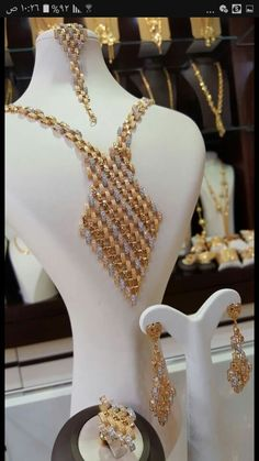 Gold Jewellery Design, Gold Jewelry, Jewelery, Pearl Necklace, Plating, Pearls, Bridal, Jewelry, String Of Pearls