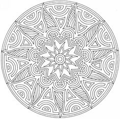 mandala+coloring+pages | Geometric Mandala Coloring Pages Pictures