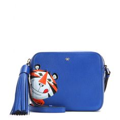Anya Hindmarch - Frosties leather shoulder bag - Give your looks a playful twist with the 'Frosties' shoulder bag from Anya Hindmarch. As seen on the FW15 catwalk, this electric-blue design capsulises the brand's British sense of humour. Carry it day or night with a carefree attitude. seen @ www.mytheresa.com