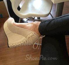 Comfortable Wedge Heel White Suede High Heel Shoes