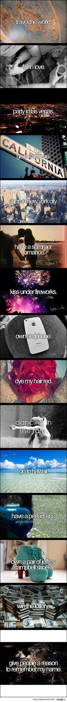 before I die ♥ every thing but dying my hair red