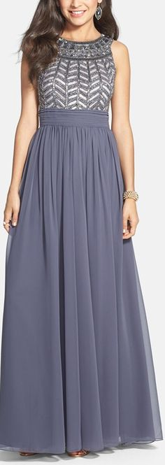 Embellished chiffon gown http://www.theperfectpaletteshop.com/#!bridesmaid-dresses/c1oc8