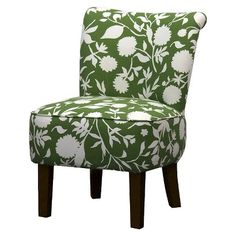 Threshold™ Rounded Back Chair - Green Floral | Target