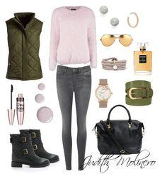 """Blush khaki style"" by judith-molinero-fashion on Polyvore featuring M.i.h Jeans, Kate Spade, Boohoo, Weatherproof Garment Company, H&M, CLUSE, Maria Black, Bony Levy, White Stuff and Linda Farrow"