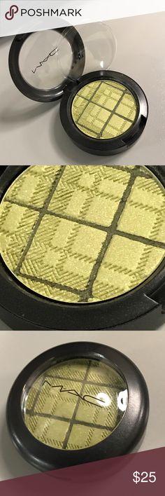 MAC Enviably Fun eyeshadow NEW LE DC Tartan Tale New, no box. Grass green with dark green Tartan striping overlay. MAC Cosmetics Makeup Eyeshadow