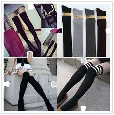 Fashion Girls Ladies Women Thigh High OVER the KNEE Socks Long Cotton Stockings #None #Casual