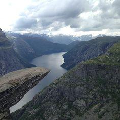 Trolltunga in Tyssedal, Hordaland, Norway