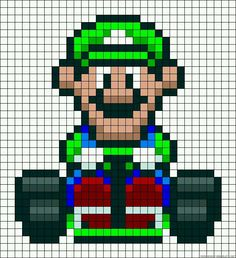 This would be an interesting afghan to make for Jack :P Mario Crafts, Nerd Crafts, Pearler Bead Patterns, Perler Patterns, Perler Bead Mario, Perler Beads, Cross Stitch Designs, Cross Stitch Patterns, Super Mario