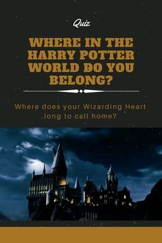 Sometimes it's hard to figure out exactly where you belong in the world. It can be even harder to figure out if we're speaking about Harry Potter's wizarding world. Take this quiz to find out where you belong in this world.