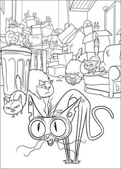 The Secret Life Of Pets Coloring Page … | Pinteres…