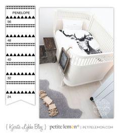 Get Inspired! Create a Winter Wonderland Nursery ... nordic themed growth chart from Petite Lemon, nursery from Krerstis Lykke blog