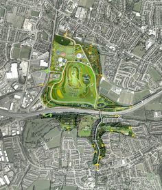 Tramore Valley Park Masterplan by Brady Shipman Martin , via Behance