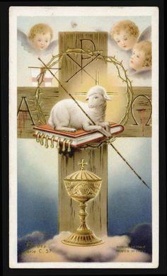 "santino-holy card""""ediz. AR serie C.57 AGNUS DEI"