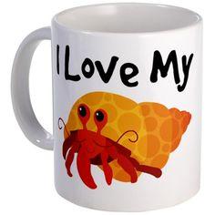 I Love My Hermit Crab Mug - omg i want this!!!!