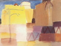 Louis Moilliet: Kastell in Tunis I (Small Fort in Tunis I[my own attempt at translation g.s.]) 1920  Watercolor  28 x 22 cm