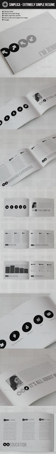 Simple Resume  5 Pinterest Simple resume, Simple cv and Template - resume 5 pages