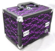 Caboodles Purple Lace Rock Star Train Makeup Organizer Case --I want!!