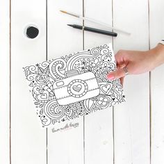 Love This Free Printable Coloring Sheet Plus The Hand Lettering Is Rad Perfect For Summer
