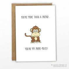 You're My Prime-mate! Pun Card