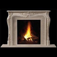 Louis II Classic Stone Fireplace Mantel - MantelsDirect.com