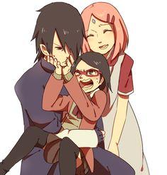 Sasuke, Sakura, and Sarada