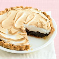This recipe comes courtesy of Diane Rasberry of Baton Rouge, Louisiana. She says the chocolate filling of this pie is balanced out by the not-too-sweet meringue topping. Pick up a crust at the store, or bake Our Favorite Pie Crust. Spread the meringue to the crust's edge so that it seals and doesn't shrink.