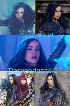 I want Descendants 3 Disney Channel Descendants 2, Descendants Wicked World, Decendents 2, 1, Disney Stuff, Disney Movies, Sophia Carson, Mal And Evie, Disney Decendants